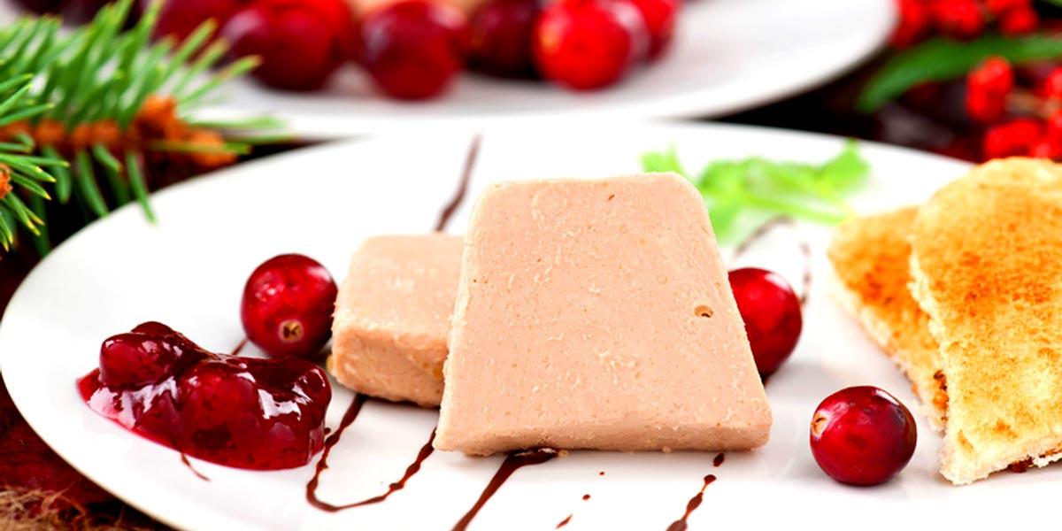Foie gras / eendenlever, geconserveerde en semi-conserven Ganzenlever Block, foie gras mousse, eendenlever blok ganzenlever gemengd met truffels of fruit, filet, Rilette, eendenlever-Entier, terrines, etc.