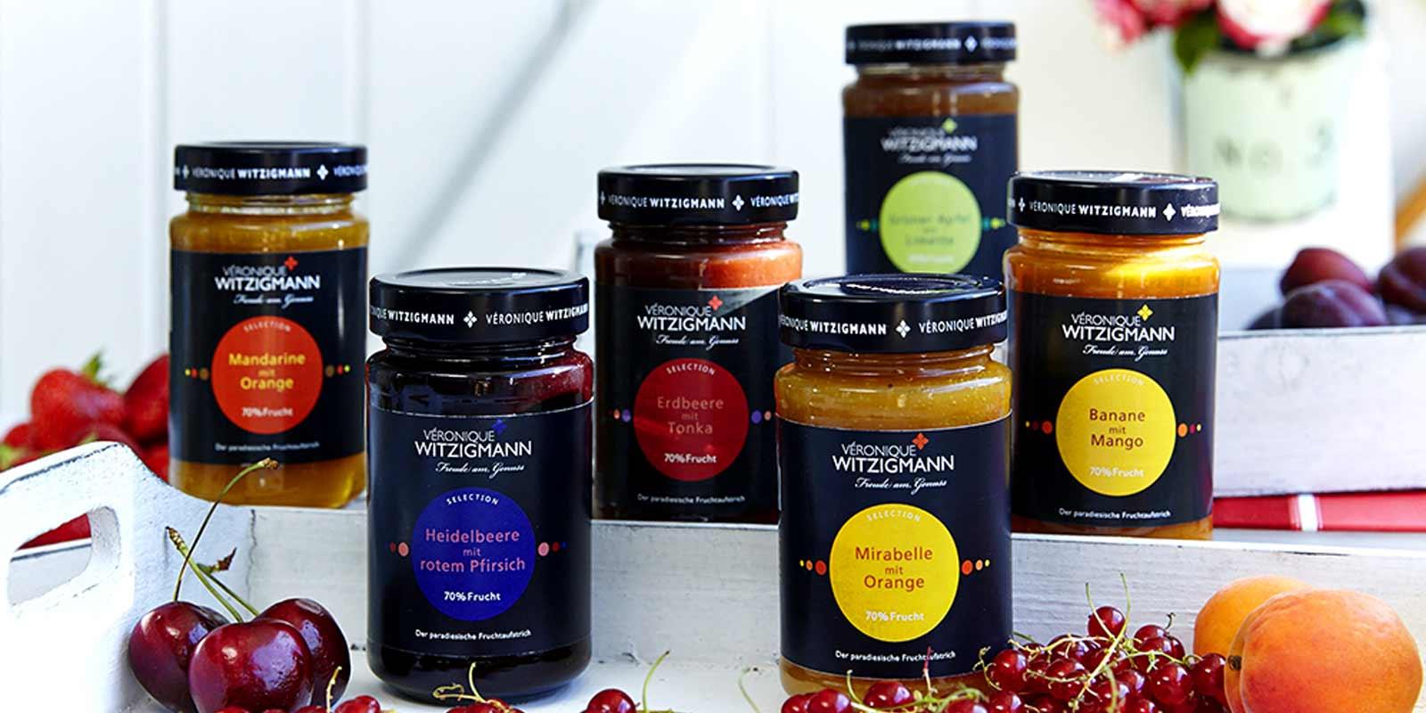 Veronique Witzigmann Fruchtaufstrich, Chutneys und Pesto Leckere Fruchtaufstriche, Chutneys und Pestos in vielen Geschmacksrichtungen von Veronique Witzigmann.